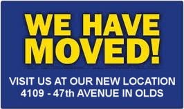 Our office has moved to 4109 � 47th Avenue in Olds, Alberta.